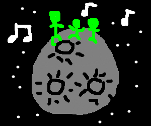 Martians raving on the moon