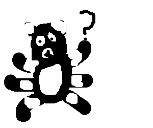 confused panda with 6 legs