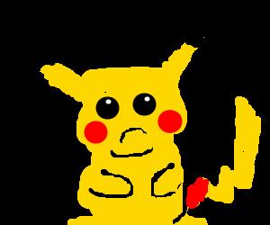 Pikachu with intestinal problems