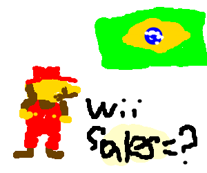 Mario wondering about the sales of Wii in Brazil