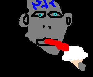 Voldemort eating ice cream