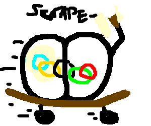Lazy bum scrapes by with Olympic rings