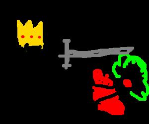King has killed a clown