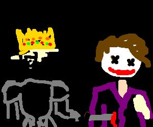 King Arthur slays the Joker