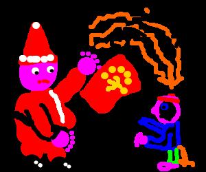 Santa gives comunist child brain cancer