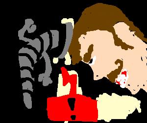 headbutting a screw