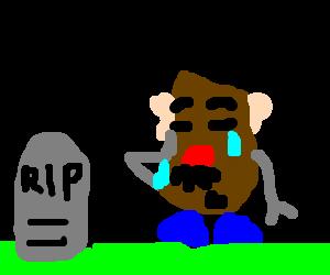 Mr Potatohead mourns the loss of a friend