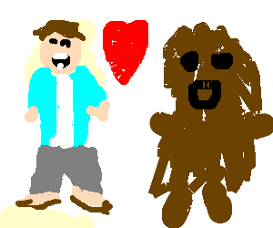 Popo and Chewbacca on a date