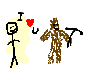 man loves chewbaca