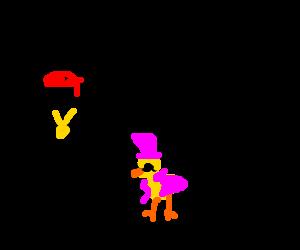 A rapper with a pimp duck
