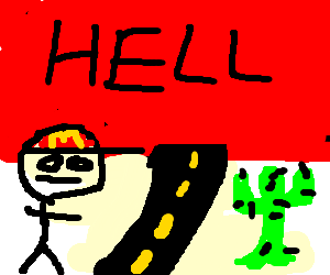 Fast food clerk on the road to hell