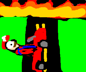 mario is on a highway to HELL