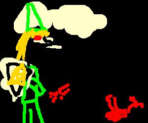 Link is a crazy serial killer.