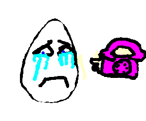 big egg depressed over phone call