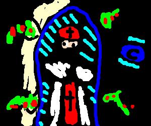 Ninja pope takes on mutant condom