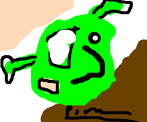 Shrek in the mind of Picasso