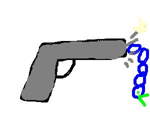 Caterpillar fired from gun