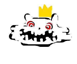 The King cat has a creepy face