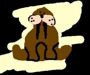 A perfect cartoon walrus