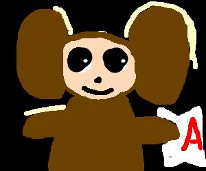 Cheburashka gets an A