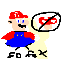 Mario diets and has to stop eating mushrooms
