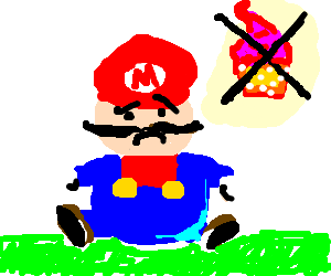 Fat Mario is allowed no more cupcakes