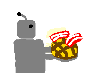 Robot displays bacon pie