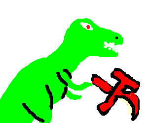 red threat of the dinosaur