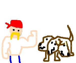 hulk hogan wrestles a cerberus