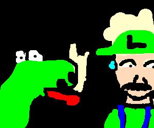 Yoshi Is Mad At Mama Luigi Drawception