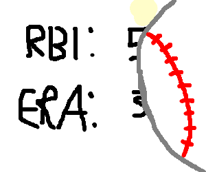 Obscured baseball stats
