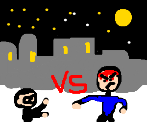 Short Nerd VS Angry Nerd on the streets at night