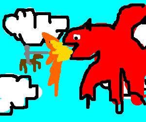 tiny flying knight battles uber dragon-horse