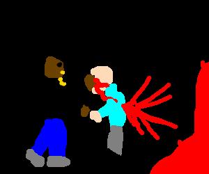 Dr. Dre slaps Dee Barnes