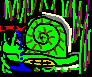 Teenage Mutant Ninja Snail is all alone