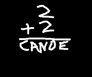 elementary equation about a canoe
