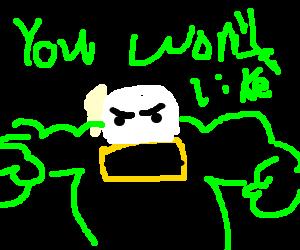 A Hulk - Duck hybrid