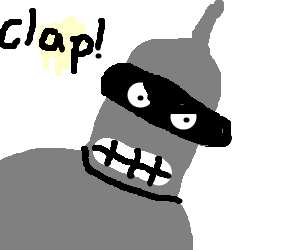 Bender threatens people to clap