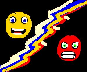 happy noodle vs sad noodle drawception