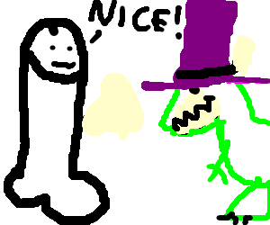 Dong approves of T-Rex in purple top hat