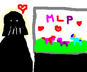 Darth Vader watching MLP