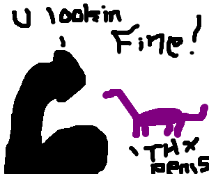 black penis appreciates purple dinosaur