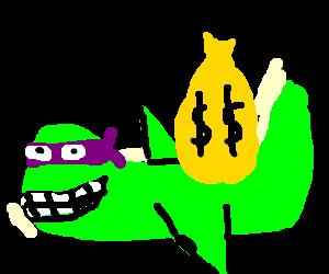 Donatello plane robs bank