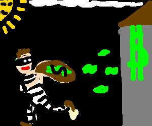 Jail escapee robs a bank