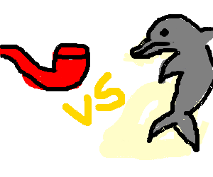 red pipe vs dolphin