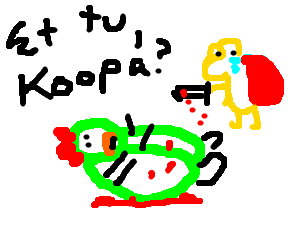 Koopa Troopa turns against Bowser