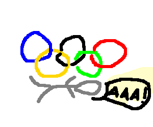 olympic rings crush man