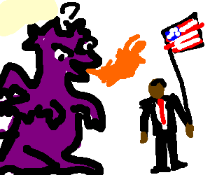 Albi the Racist Dragon meets Obama