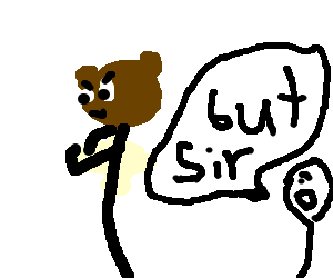 man with bear costume doesn´t care