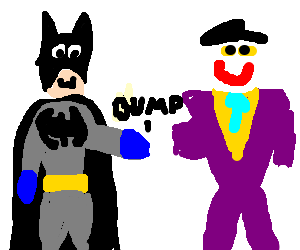 Batman-Joker brofist